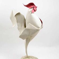 立体大公鸡折纸图解 折纸公鸡的方法步骤图