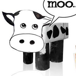 幼儿奶牛手工制作教程 简单立体奶牛的做法图解