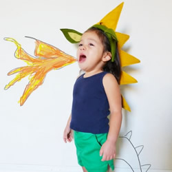 儿童火龙头带玩具DIY 不织布玩具头带制作方法