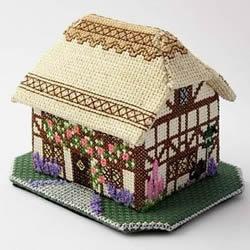 钩针房屋模型手工制作 房子龙都娱乐品钩针DIY