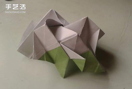 大全 折纸玫瑰  再这样把上图中白色三角形左边的那个竖着的长方形向