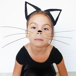 怎么制作猫耳朵头饰 手工布艺猫耳朵头箍DIY