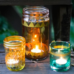 唯美玻璃烛台DIY教程 玻璃瓶改造制作烛台