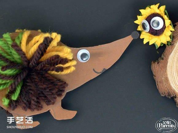 幼儿园小刺猬手工制作 简单卡纸刺猬的做法 -  www.shouyihuo.com
