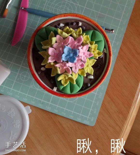 超轻粘土花教程图解 粘土花朵制作图片步骤