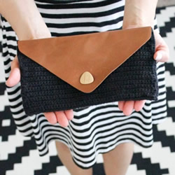编织皮革手包DIY制作 自制编织风手包的方法