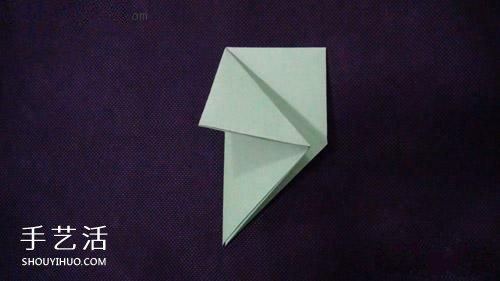 儿童折纸蜗牛的方法 简单蜗牛的折法图解