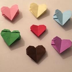 母亲节简单爱心折纸 爱心的折法图解教程