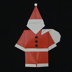 儿童圣诞老人的折法 简单折圣诞老人图解教程