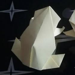 儿童折纸青蛙步骤图解 简单立体青蛙折纸教程