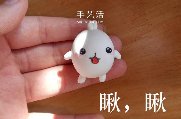 土豆兔粘土制作教程 超轻粘土土豆兔diy图解