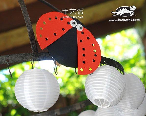 七星瓢虫手工制作教程 幼儿制作七星瓢虫图解 -  www.shouyihuo.com
