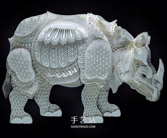 為脆弱野生動物募款 馬尼拉藝術家的動物紙雕
