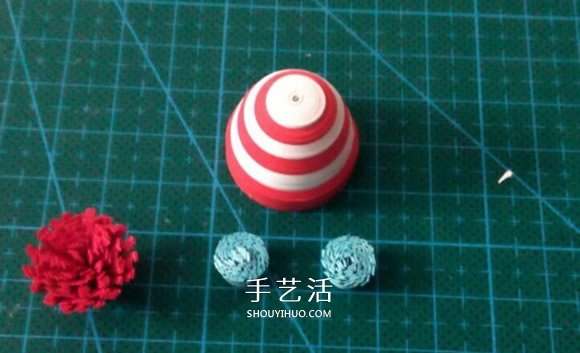 衍纸雪人的制作方法 衍纸手工制作立体雪人 -  www.shouyihuo.com