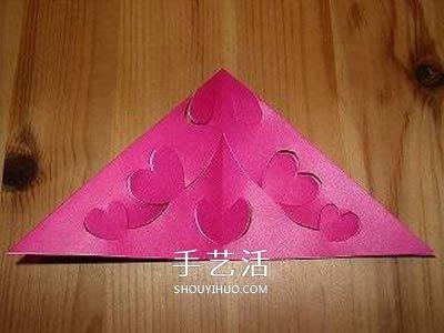 剪纸花朵挂饰的步骤图 立体剪纸花挂饰的做法