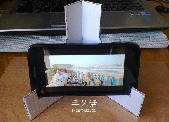 废纸盒做手机支架方法 简易手机支架制作方法