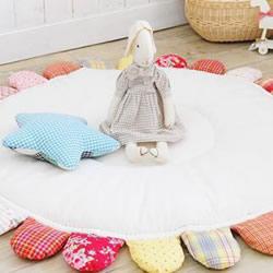 自制宝宝玩耍垫教程 不织布婴儿爬行垫的做法