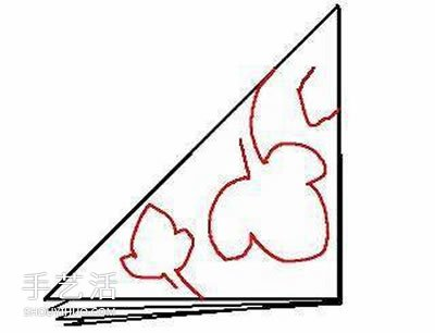 简单挂饰的剪纸方法 绿荫剪纸的折法和步骤图 -  www.shouyihuo.com