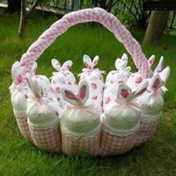 不织布可爱篮子DIY 自制圆形布艺篮子的方法