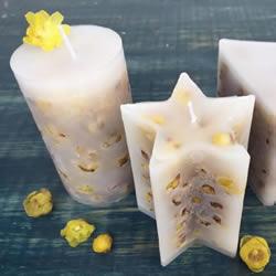 自制蜡梅花蜡烛的方法 鲜花蜡烛礼物DIY制作