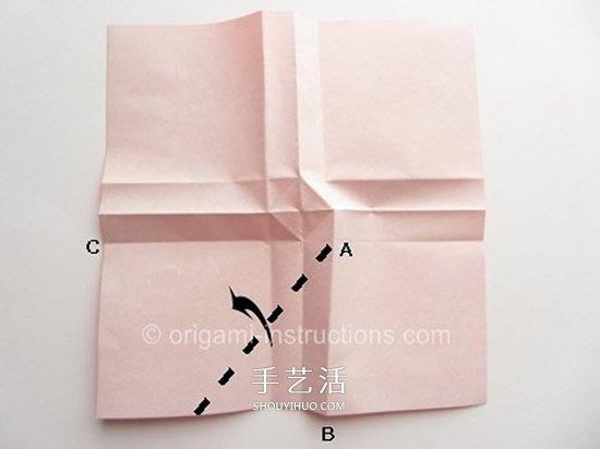 川崎玫瑰花折法教程 川崎玫瑰改良版折纸图解图片