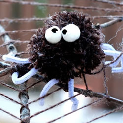 万圣节道具制作图解 儿童简单蜘蛛网手工制作