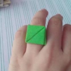 纸戒指的折法图解教程 折纸戒指简单又可爱