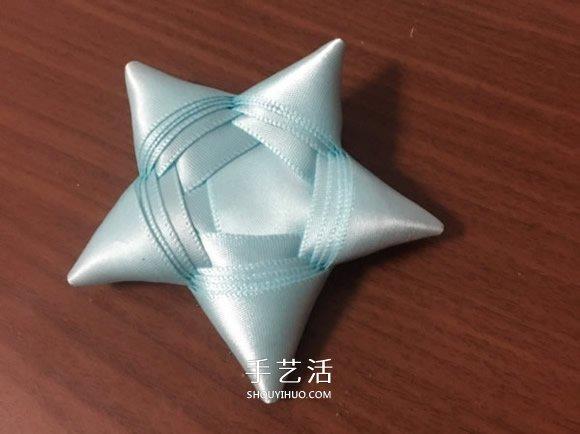缎带五角星的折法图解