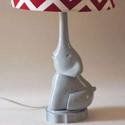 小象台灯灯座制作方法 泡沫板石膏模DIY小象灯座