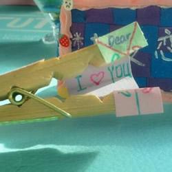 情人节木夹子手工创意 简单情人节小礼物DIY