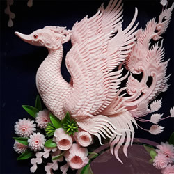 栩栩如生的手工雕像 泰国传统肥皂雕刻作品