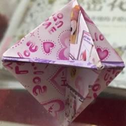 纸陀螺怎么折叠图解 会转的折纸陀螺折法