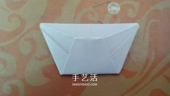 最简单元宝的叠法图解 怎么折纸元宝的方法_手
