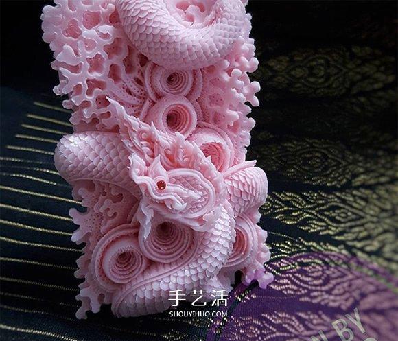 泰国传统肥皂雕刻作品