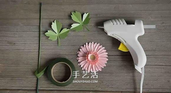 非洲菊的手工制作图解 卡纸做非洲菊的方法