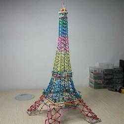 埃菲尔铁塔模型制作 回形针做埃菲尔铁塔教程