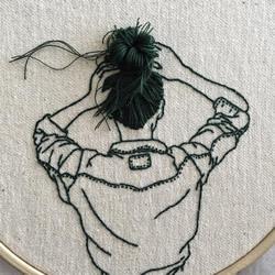 3D立体感的刺绣作品 精美的手工刺绣发型