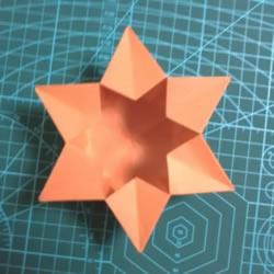 六角星盒子的折法图解 折纸星星盒子的方法