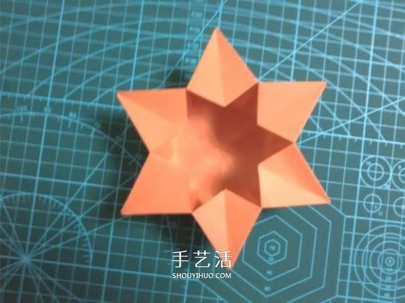 折法图解 折纸星星盒子的方法