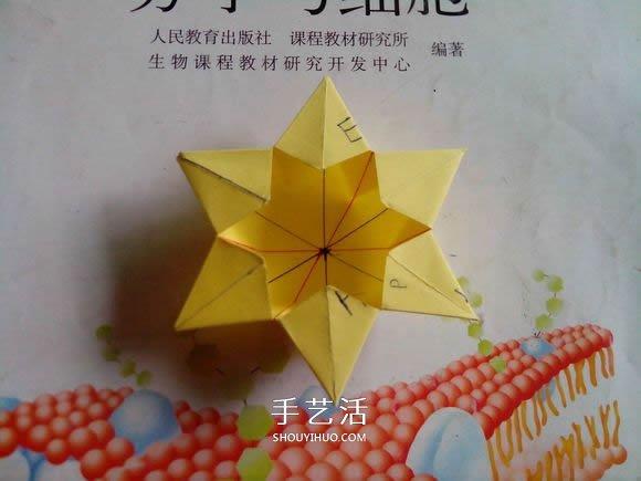 子的折法图解 折纸星星盒子的方法 2
