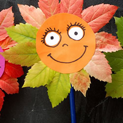 简单又漂亮向日葵树叶贴画的做法图解