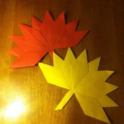 幼儿枫叶的折纸方法 简单折叠枫叶图解教程