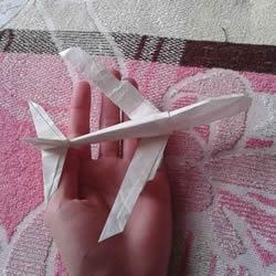 Victor客机的折法图解 复杂折纸客机的步骤图