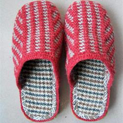 棒针编织拖鞋的步骤图 毛线拖鞋的编织方法图解