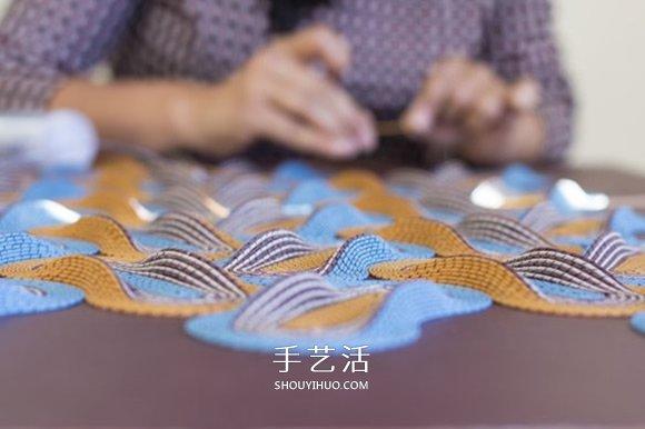 交錯縱橫的幾何紙編作品 一起進入冥想時間吧!