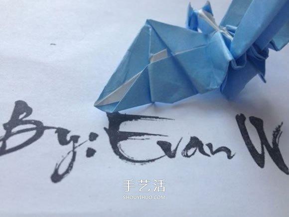 怎么折纸翼龙的折法 手工折纸翼龙图解教程(2)