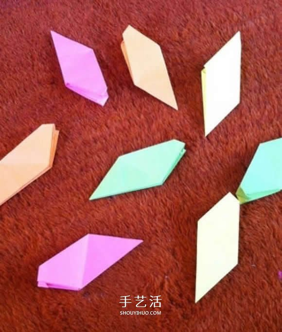四角飞镖的折法