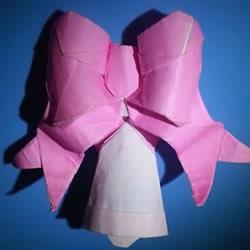 铃铛的折纸方法图解 复杂折纸铃铛的折法步骤