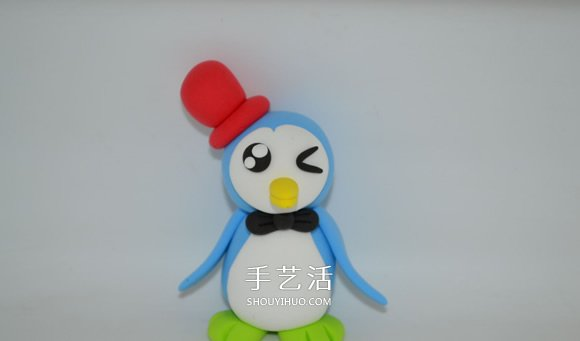超轻粘土DIY小企鹅 简单又可爱粘土企鹅制作 -  www.shouyihuo.com