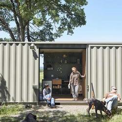 美国集装箱货柜改造 变身狩猎爱好者专用基地